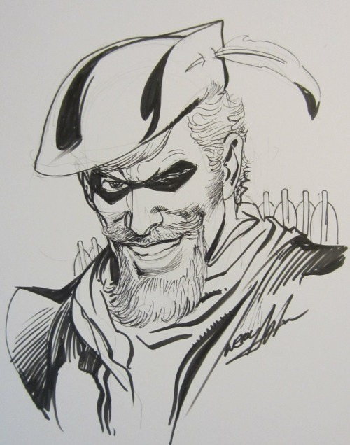 joearlikelikescomics:  Green Arrow sketch by Neal Adams