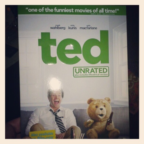 My brother Joey got me one of my favoritist movies for Christmas! #ted