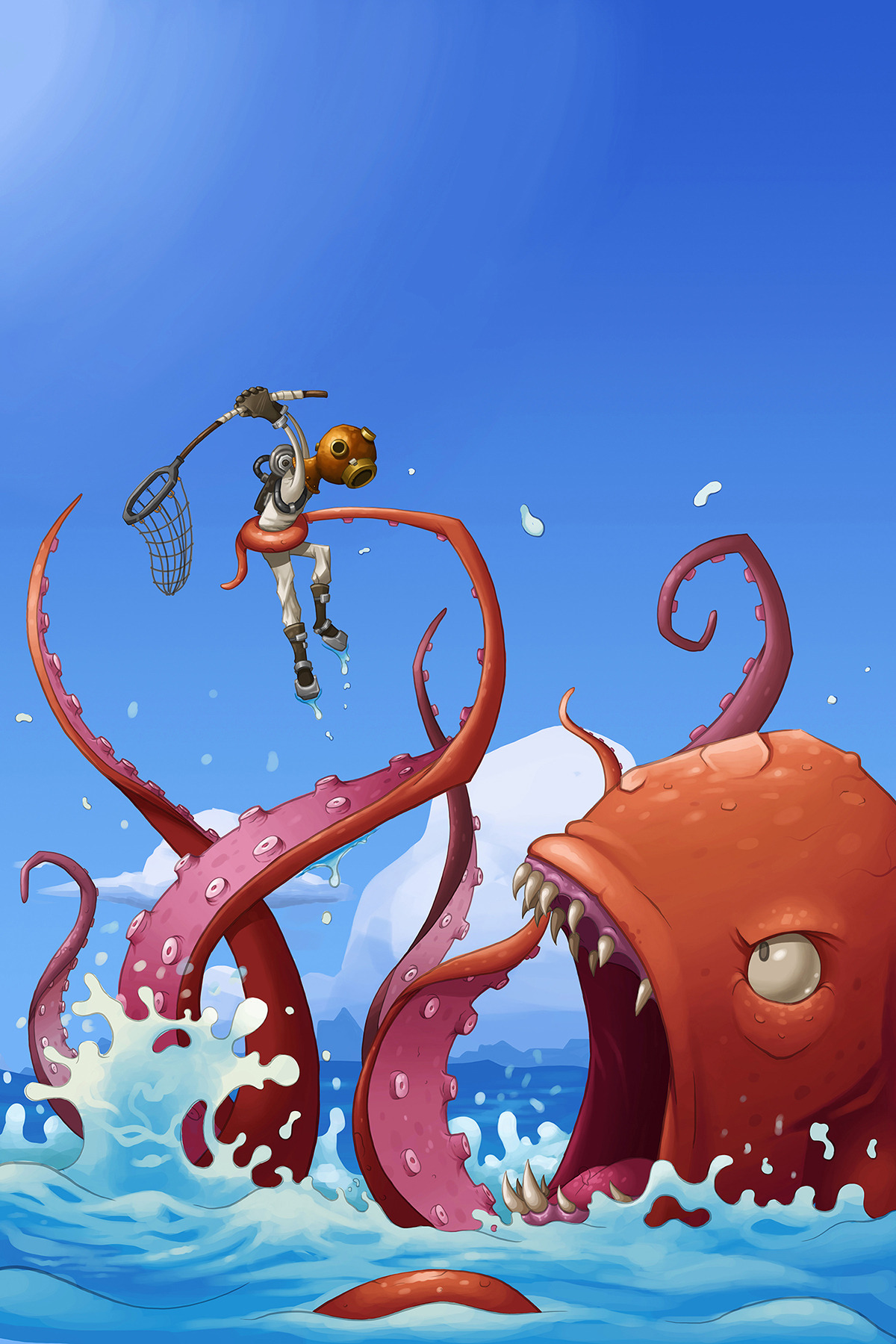 jasonflack:  Kraken Wrangler! Probably my most successful use of water to date.