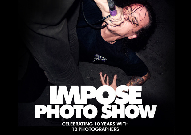"STRIKE AN ""IMPOSE"" Ten years, ten photographers: Brooklyn's indie photojournalism site Impose is turning 10 this year. To celebrate a decade of documenting rollicking rock shows and hip cultural happenings, they're going to party like rock stars with their first photo exhibit opening at BK's Secret Project Robot tonight. See prints culled from the past 10 years by 10 up-and-coming photogs, including Nate Dorr, Sam Horine, and Joe Perez, among others. Check out more than 50 images, sip free Reyka cocktails, and catch a live performance by Alan Watts, plus visual projections by EyeBodega. Go ahead and Impose! Impose Photo Show photo via"