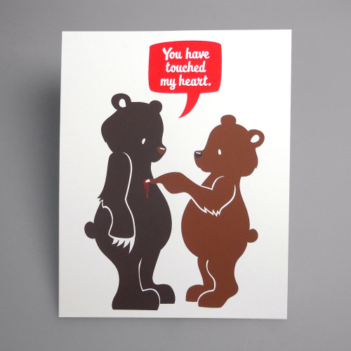 touchy bears limited edition screen print