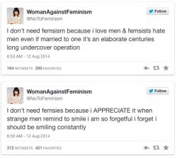 parody twitter feminist feminism women against feminism