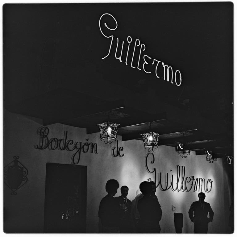 Bodegón de Guillermo, restaurant and caberet, one of the best restaurants of the day, a favorite of bullfighters and fans, June 1964, by Harry Crosby Part of the Harry Crosby Collection, MSS 333
