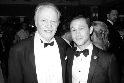 Jon Voight and Joseph Gordon-Levitt at the VF party.