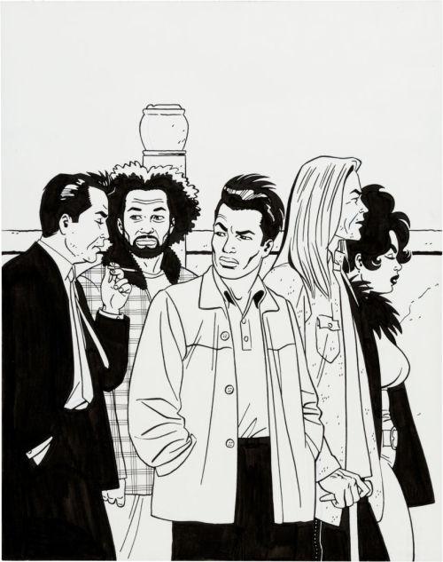 biggoonie:  Love And Rockets V2 #12 original art by Jaime Hernandez 2004