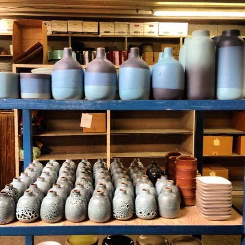 Nice stuff for our open studio starting tomorrow! (at Heath Ceramics)
