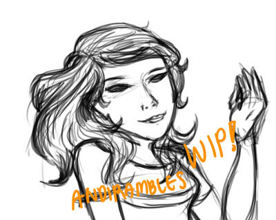 WIP picture inspired by the music video of Marina and the diamonds'  OH NO! I might post it on my main art blog when I complete it so yea///