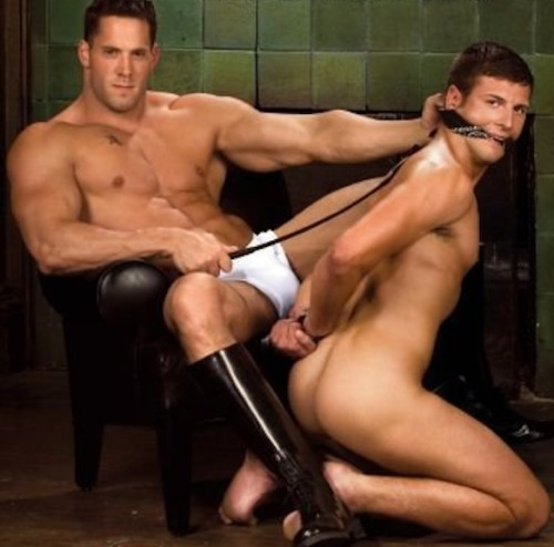 gaybondageslave:  Sir Master Erik and His properly restrained faggot slave Sir