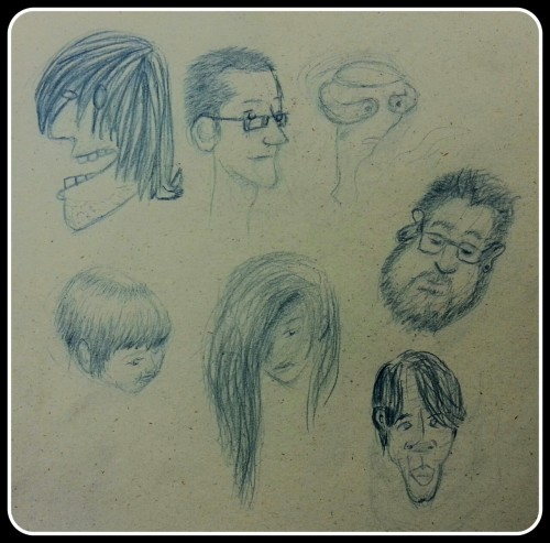 Caricatures from Wednesday! Me, Eric, An Alien, Emily, Paige, Sparkles, and Trung! Edinboro is my one of my favorite places to be…
