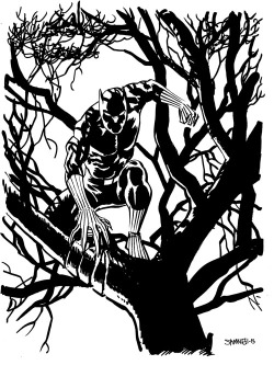 love-and-radiation:  Meanwhile, Chris Samnee's Black Panther.