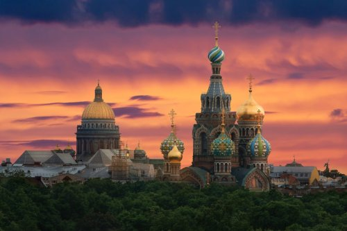 St. Isaac's Cathedral and the Church of the Savior on Blood [Photo: FotoS.A./Corbis]