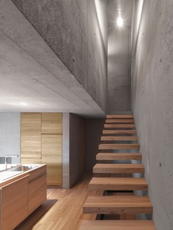 justthedesign:  Staircase And Kitchen Haus Rüscher by OLKRÜF