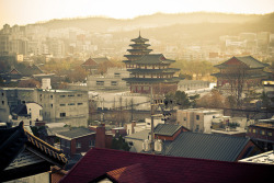 dreams-of-japan:  The View From Bukchon Observatory by Synapticism on Flickr.