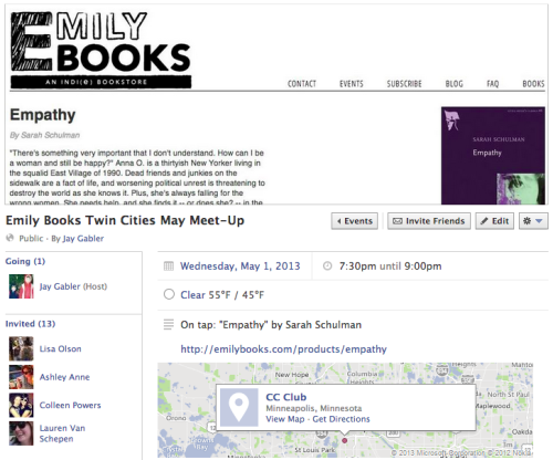 "Twin Cities book lovers—especially Twin Cities lovers of books that inspire questions like ""What is the status of the 'queer novel' today?"" and ""Do we really exist?""—join us!"