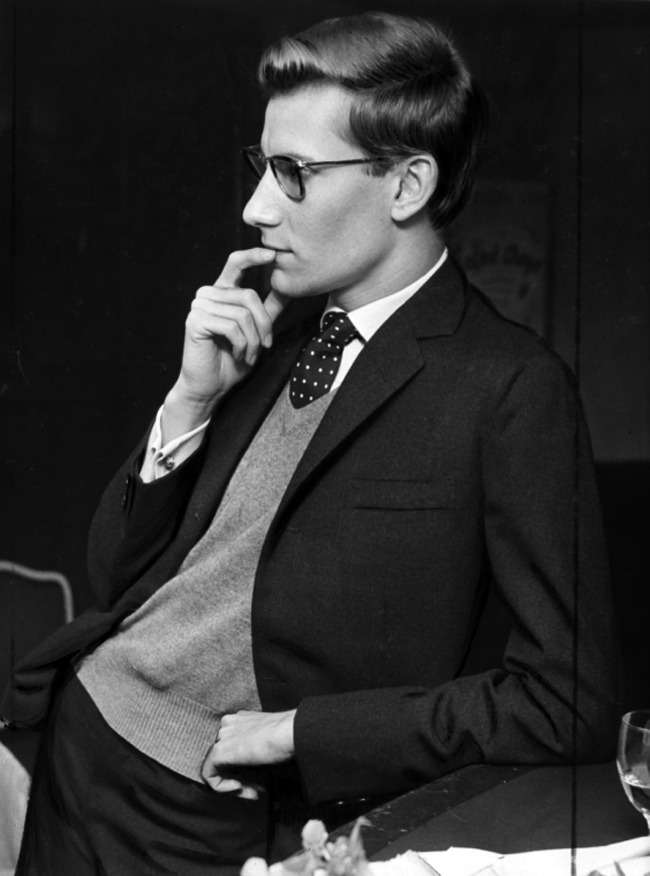 voxsart:  The Man Who Loved Sweater Vests With Suits 2. Yves Saint Laurent.