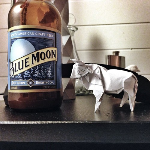 once in a blue moon drink a blue moon and fold a bull