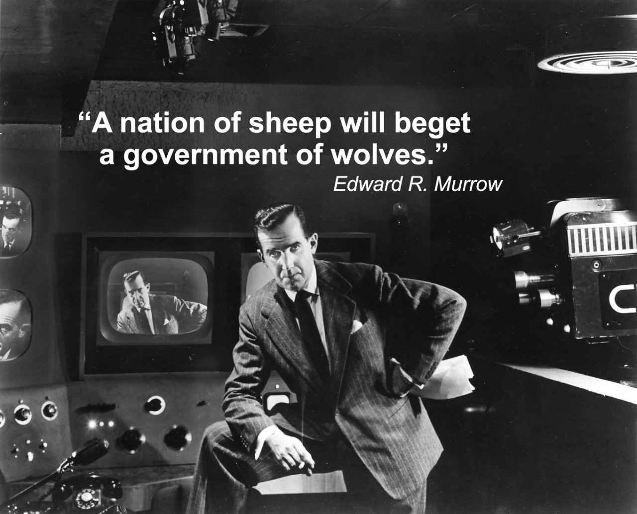 """A nation of sheep will beget a government of wolves."" ― Edward R. Murrow"