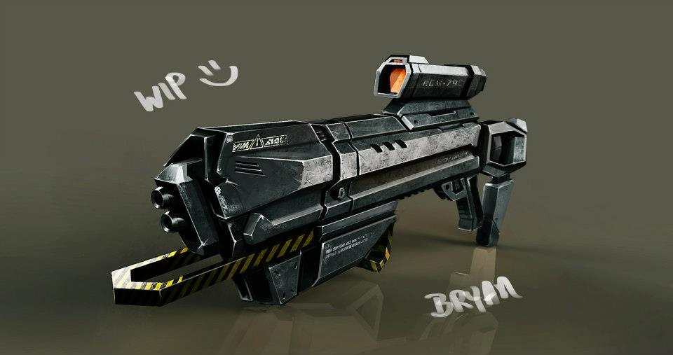 mm unfinished gun i did a few months back at CDWA