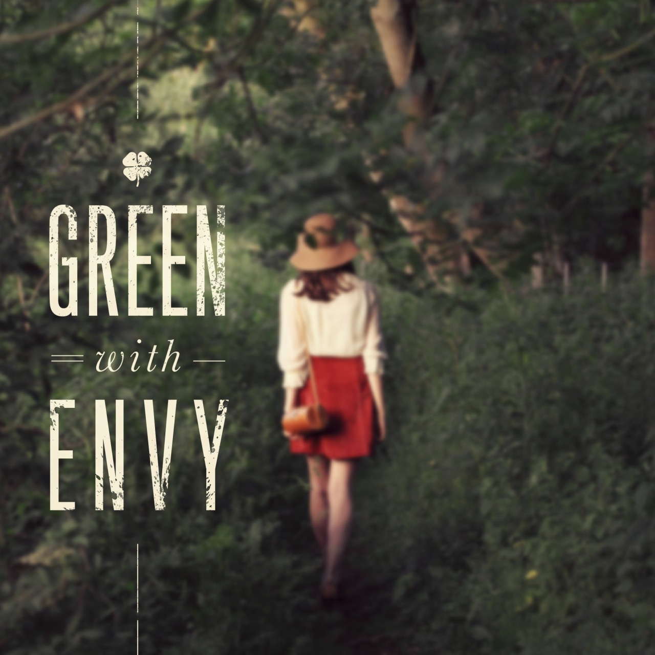 I'm Green with Envy This works so well for me, because I'm a vegetarian, and … okay I'm kidding this isn't about me. This was just a quick idea that seemed perfect for a fashion related project. Sometimes a good line of copy and the right photo is all you need.  I should have been a copywriter. Or a Ninja Turtle. Hmmmmm.