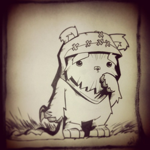 chefzilla:  a1courier:  Wife requests Ewoks, she gets Ewoks…  Next tattoo  If you do, I require pictures!! :)