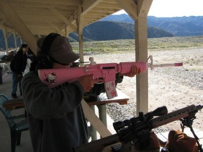 death-by-lulz:  collegehumor: Hello Kitty Rifle  It would look super cute with those barrettes.  Via/Follow The Absolute Greatest Posts…ever.  I know what someone I know is asking to get for Christmas now…
