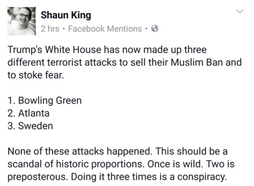 ithelpstodream:Meanwhile white men caught preparing terrorist attacks are not charged under terrorism laws.