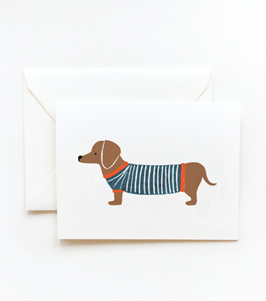 (via Rifle Paper Co. - Dachshund Card) for carlyvous