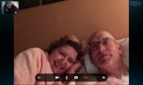 Missing my folks.So cute and peachy.