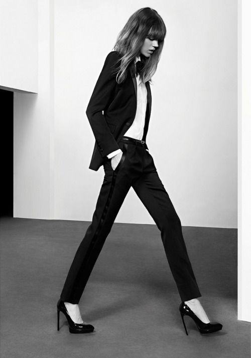 what-do-i-wear:  Saint Laurent Pre-Fall 2013 CampaignPh: Hedi Slimane, Model: Freja Beha Erichsen