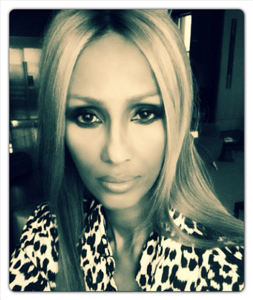 "Iman at the office testing ""new"" fab makeup product! Stay Tuned Beauties! #beauty -IMAN Beauty Girl"