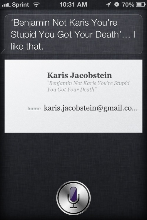 My son wasn't clear when trying to change who Siri addresses