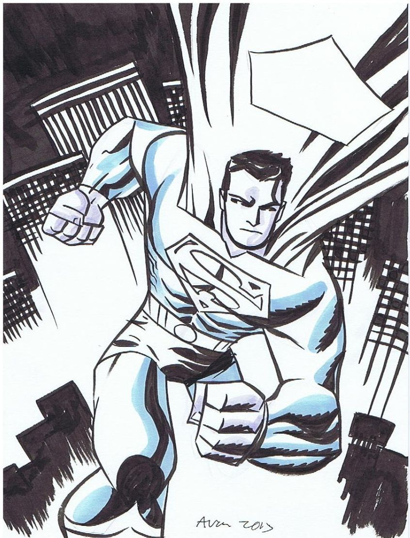 Superman sketch by Michael Avon Oeming