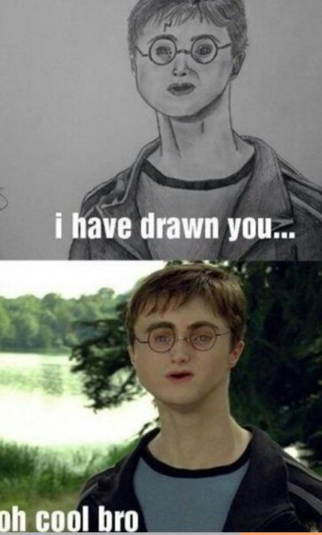 collegehumor:  Spot on Drawing of Daniel Radcliffe in Harry Potter Accio drawing ability.