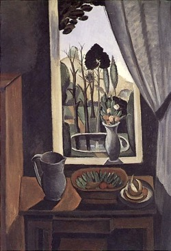 le-desir-de-lautre:   André Derain (French, 1880-1954), La Fênetre sur le parc [Window on the Park], 1912, 130.8 x 89.5 cm (51.5 x 35.25 in).