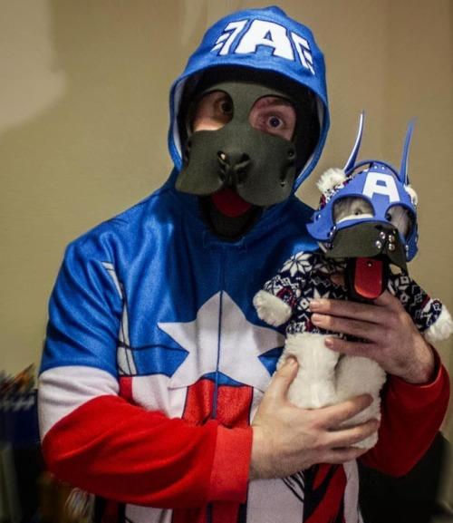 It's Captain Pupmerica!  #PupPlay #PuppyPlay #HumanPuppy #HumanPup #RubberPup #LeatherPup #Kink #Fetish #PupHood #MrSLeather #Neoprene #NeoprenePup #PupsOfIreland #InstaPup #PupsOfInstagram #CaptainAmerica #Avengers #InfinityWar #Comics #Nerd #neoprene#mrsleather#nerd#puppyplay#pupplay#humanpup#puphood#instapup#pupsofinstagram#captainamerica#kink#fetish#humanpuppy#pupsofireland#infinitywar#comics#avengers#rubberpup#leatherpup#neoprenepup