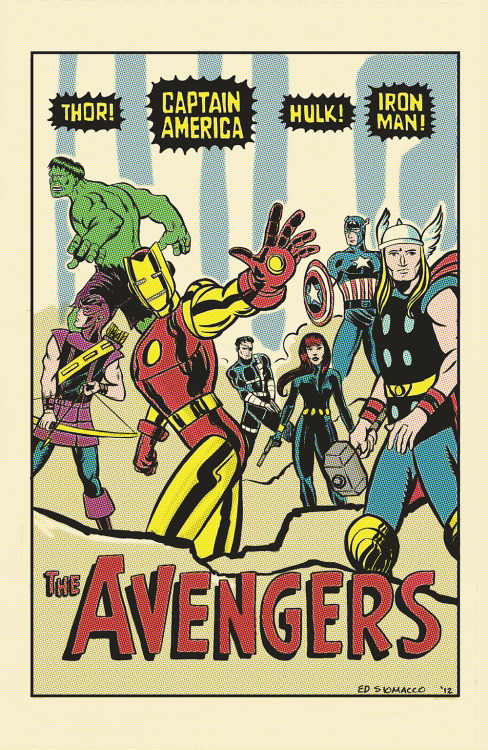 alexhchung:  The Avengers by Ed Siomacco