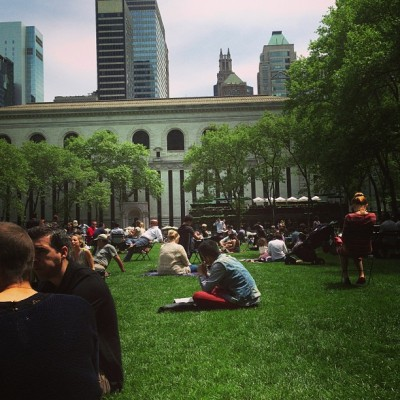 Friday lunch in Bryant Park.  (at Bryant Park)