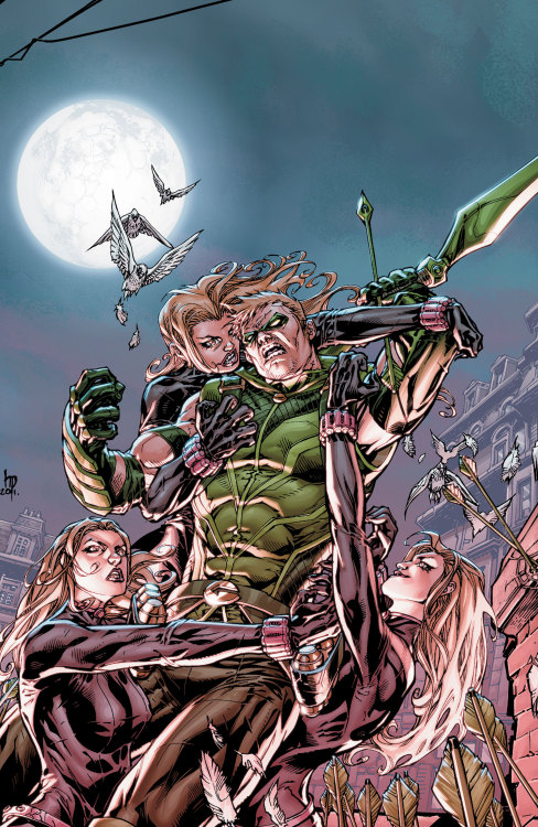 Market Monday Green Arrow vol. 2: Triple Threat TP, written by Ann Nocenti   When Green Arrow meets genetically modified triplets known as Skylark, he is entranced by their beauty and the new technology they give him. But what is the truth about their father, King Leer, and his work? Collects GREEN ARROW #7-13.   Shopping Options Amazon IndieBound  TFAW