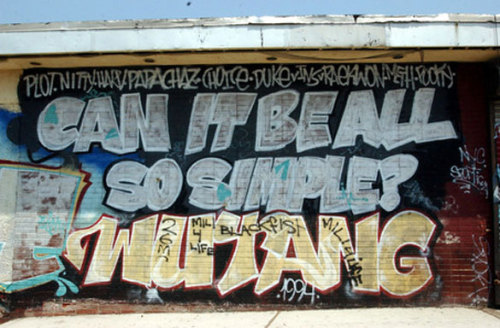 soleplaneny:  The Wall on Targee St. Wu-Tang origins.