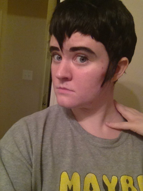 Actual cosplay wig photo (probs just gonna leave it like this now)