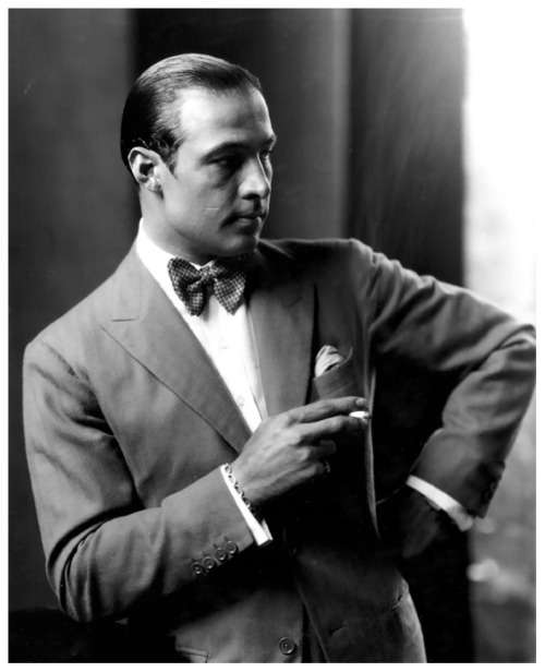 "Rudolph Valentino (May 6th, 1985 - August 23rd, 1926)  Photo by Edward Steichen  The death of Valentino is a terrific loss to the screen.  He brought it happiness"" beauty, and art as perhaps no other has.  His loss can never be replaced; there was and can be only one Valentino; a great artist and one of the finest gentlemen it has ever been my privilege to term 'friend'."" - John Gilbert"