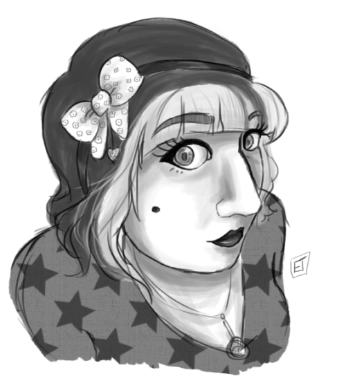 I drew a me that doesn't look a lot like a me. This is really a practice idea thing for a thing. yep things.