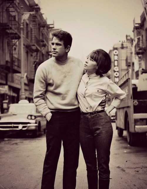"vintagebreeze:  ""Warren Beatty was one hell of a lover - but we fought like stray dogs""- Leslie Caron"