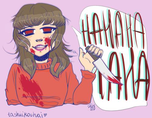 yandere yandere girl lovesick obsessive love blood knife art digital art creepy