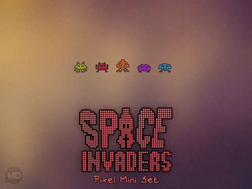 download space invaders' icons for your desktop. (macOS) (windows)
