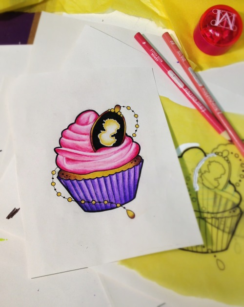 Cupcake tattoo doodle yumminess today at Hartless Tattoo Company, whos hungry? www.hartless.ca