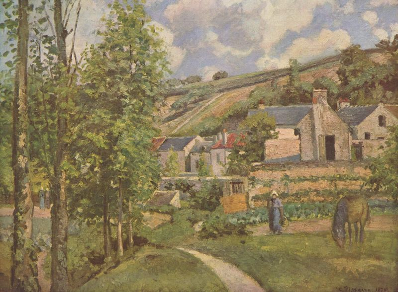 Camille Pissarro (French, 1830-1903), Landscape at Pontoise