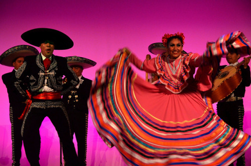 Jarabe Tapatío on Flickr.For Rutgers University Student Life's end of the year staff celebration, they brought in an authentic mariachi band. It was quite impressive to hear their music and still more impressive to see the dancers demo jarabe tapatío, also known as the Mexican Hat Dance. I actually had never seen any of this in person before, so I was pretty amazed by it all. Shot with my Nikon D5100.
