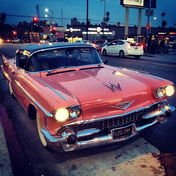 I am in love! #dreamcar #pinkcadillac #heartbreaker #vintage #car #classic