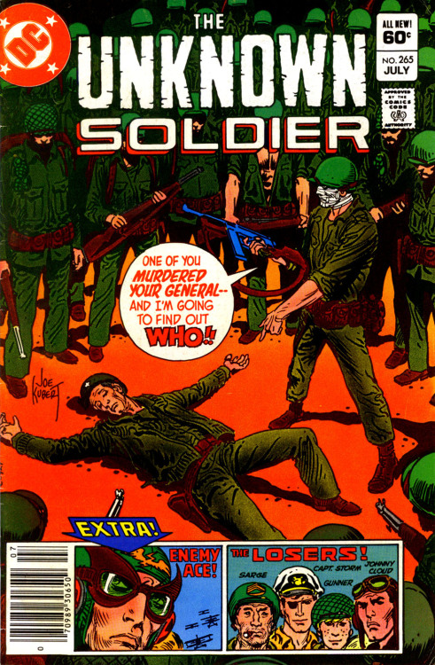 comicbookcovers:  The Unknown Soldier #265, July 1982 cover by Joe Kubert